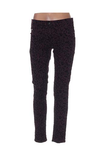 luisa cerano pantalons femme de couleur violet