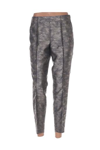 luisa cerano pantalons femme de couleur gris