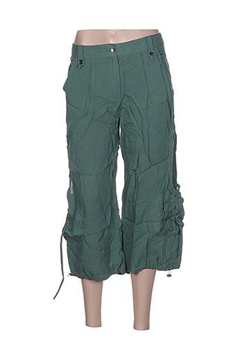 l33 pantacourts femme de couleur vert