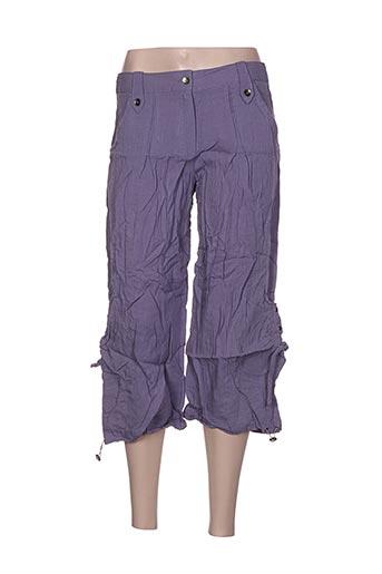 Pantacourt décontracté violet L33 pour femme