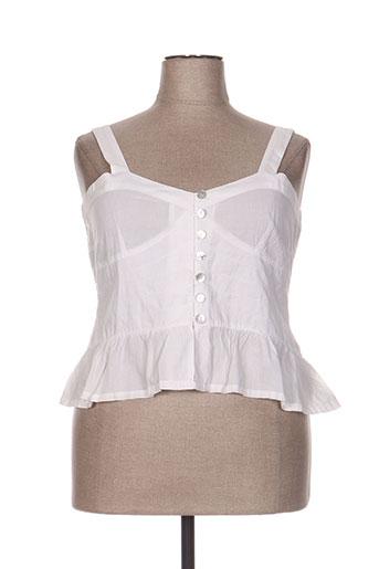 nid d'abeille chemises femme de couleur blanc