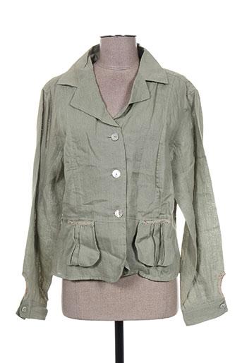 Veste chic / Blazer vert INGE DE JONGE pour femme