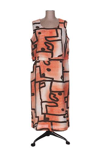 Robe mi-longue orange CHRISTIAN MICHEL pour femme