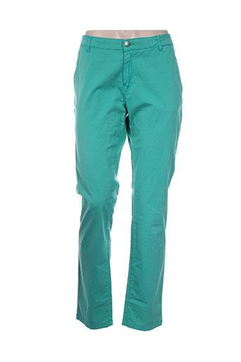 zapa pantalons femme de couleur vert