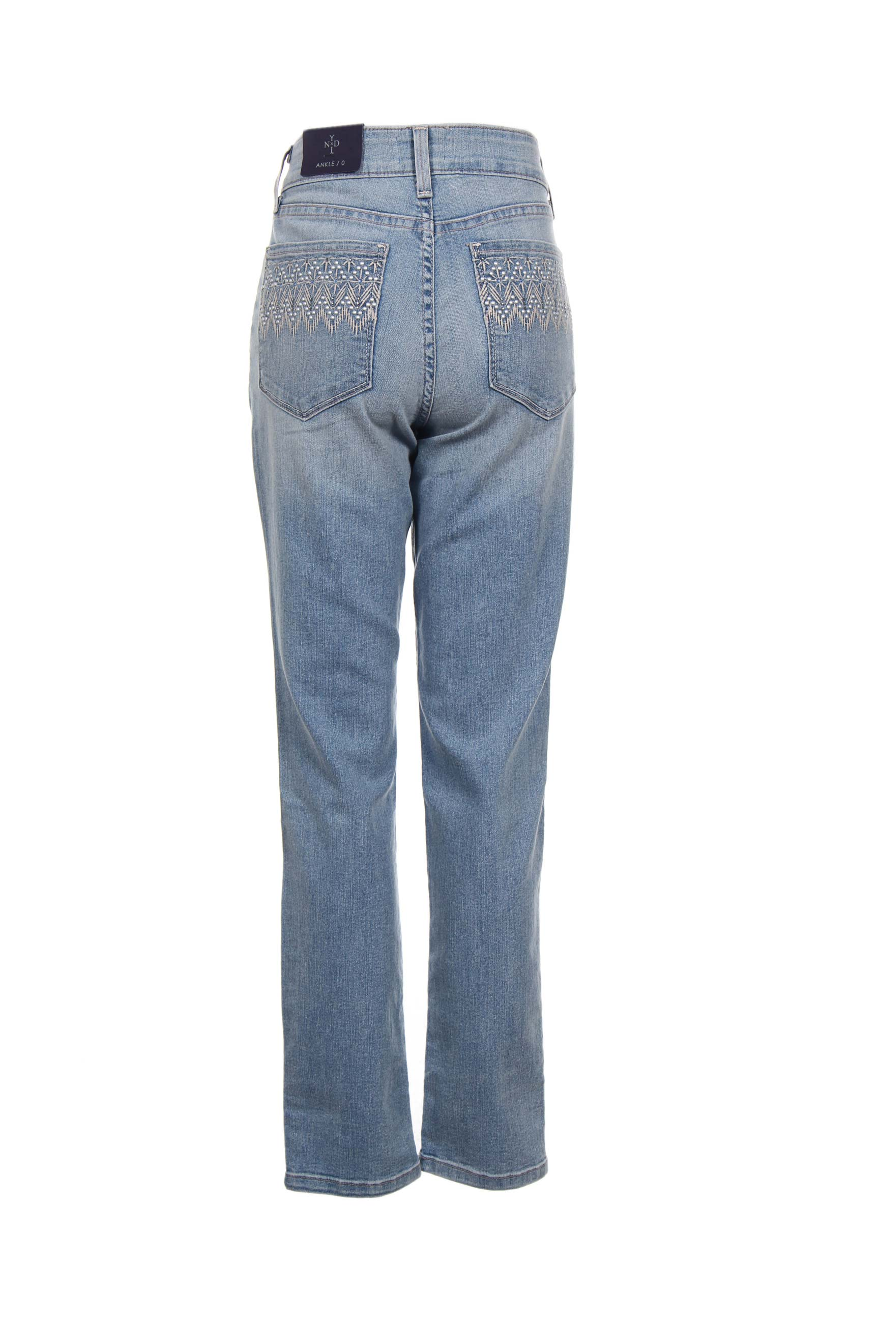 Nydj Jeans Coupe Slim Femme De Couleur Bleu En Soldes Pas Cher 1207620-bleu00