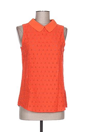 it hippie chemises femme de couleur orange