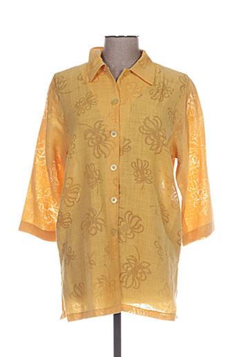 lewinger chemises femme de couleur jaune
