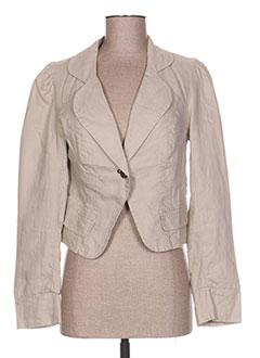 Veste casual beige DDP pour femme