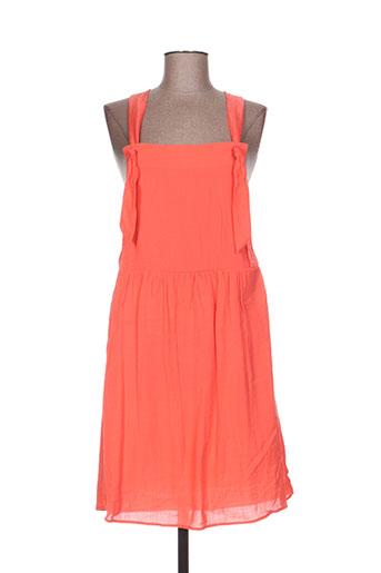 acoté robes femme de couleur orange