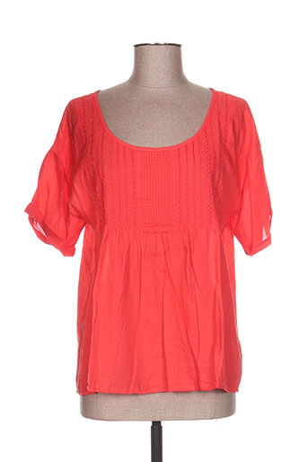 Blouse manches courtes orange ACOTÉ pour femme