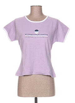 T-shirt manches courtes violet HOMEBOY pour femme
