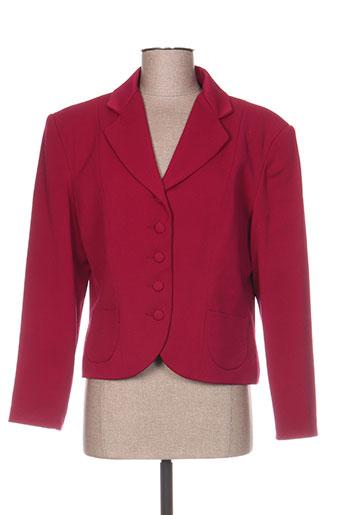 anne elisabeth vestes femme de couleur rose