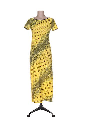 levana lee robes femme de couleur jaune