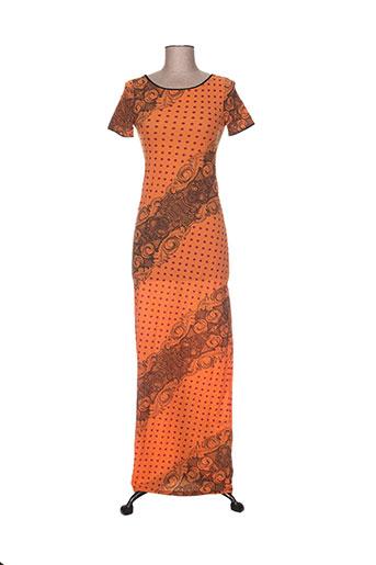 levana lee robes femme de couleur orange
