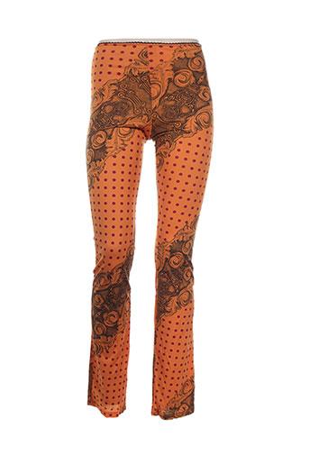 levana lee pantalons femme de couleur orange