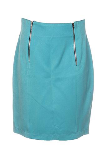 Jupe courte bleu DIFFERENTIEL pour femme