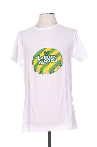 lemon EFFI_CHAR_1 soda t-shirts homme de couleur blanc