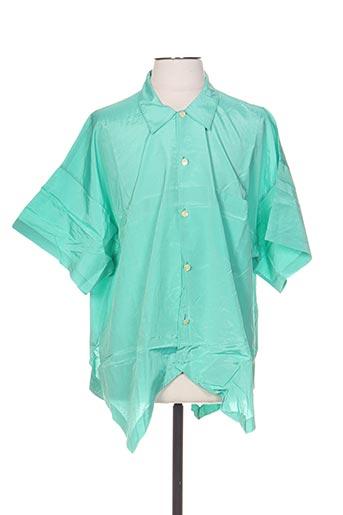 Chemise manches courtes vert CENTRAL PARK pour homme