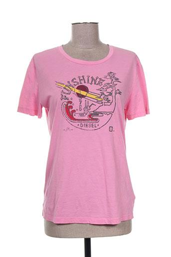 diesel t-shirts femme de couleur rose