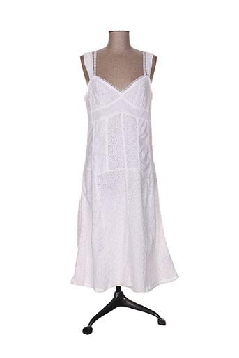 double one peace robes femme de couleur blanc