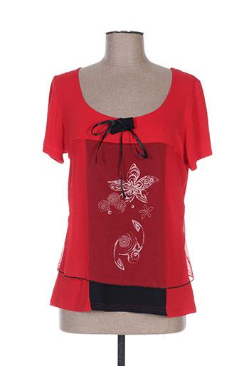nanas de paris t-shirts femme de couleur rouge