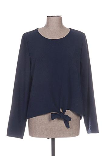 vila chemises femme de couleur bleu
