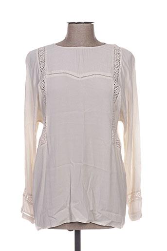 charlise chemises femme de couleur beige
