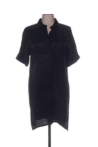 Robe mi-longue noir CHROM pour femme