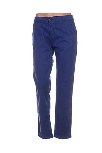 hod pantalons femme de couleur bleu