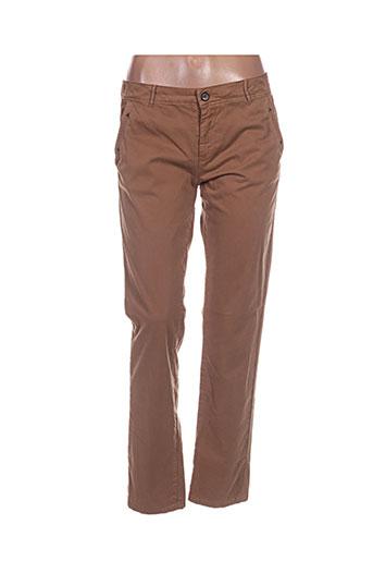 hod pantalons femme de couleur marron