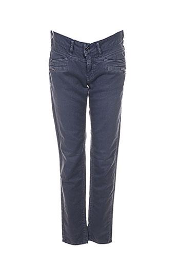 five pantalons femme de couleur bleu