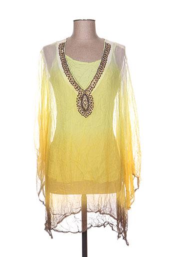 alain murati tuniques femme de couleur jaune