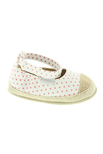 noukie's chaussures fille de couleur blanc