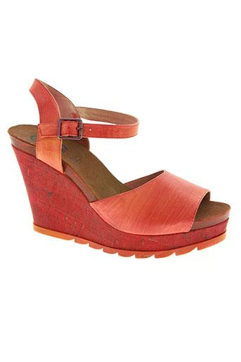 226 shoes chaussures femme de couleur rouge