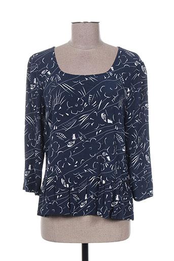 i.code (by ikks) chemises femme de couleur bleu