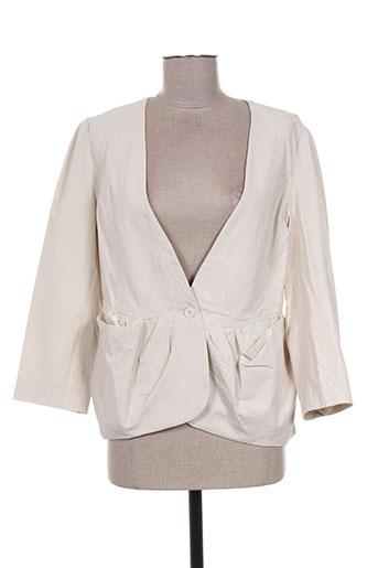 Veste chic / Blazer beige BOHEMIA pour femme