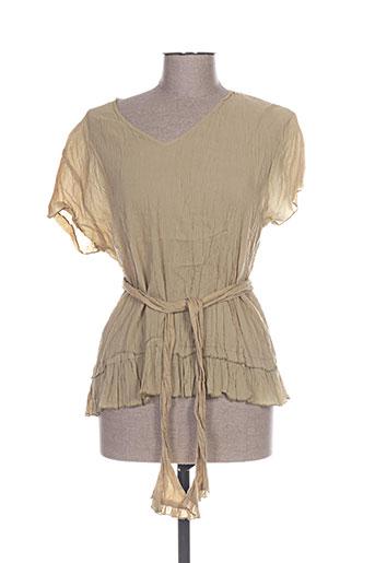 chadia chemises femme de couleur beige