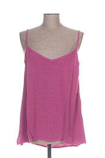 garuda garuzo chemises femme de couleur rose