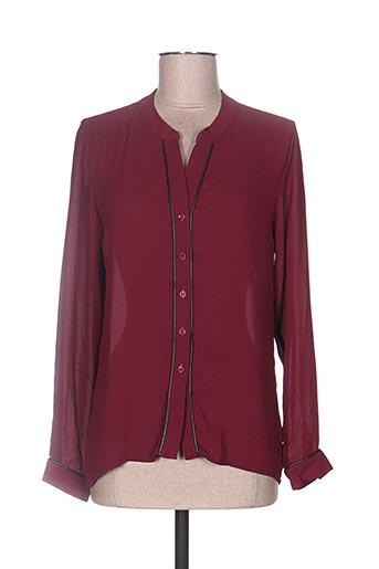 sweed paris chemises femme de couleur rouge