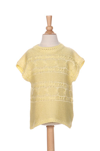 Pull col rond jaune MAYORAL pour fille