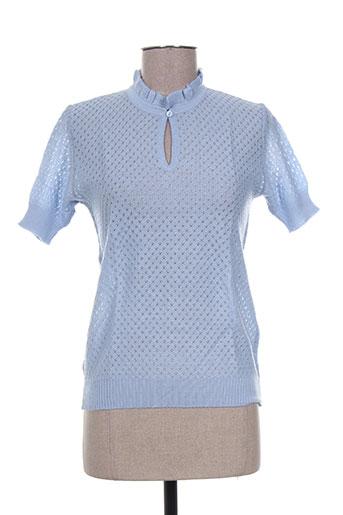 olivier de boissey pulls femme de couleur bleu
