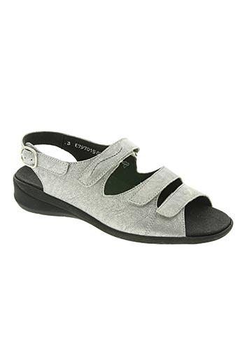 solidus chaussures femme de couleur gris