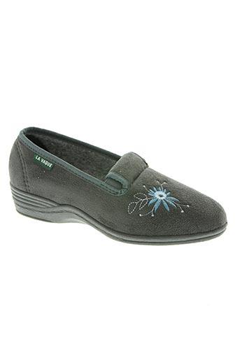 la vague chaussures femme de couleur gris