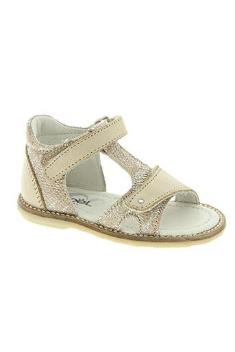 noël chaussures fille de couleur beige