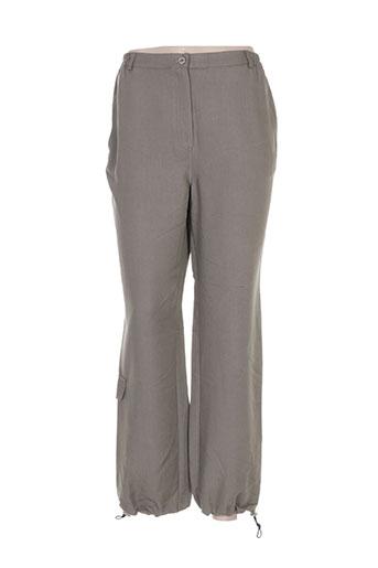 telmail pantalons femme de couleur vert