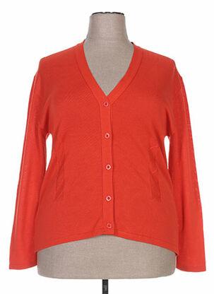 Gilet manches longues orange DZIRANIAN pour femme