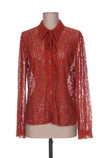 the korner chemises femme de couleur orange