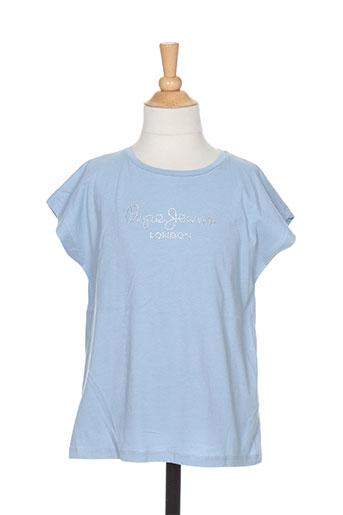 pepe jeans t-shirts fille de couleur bleu