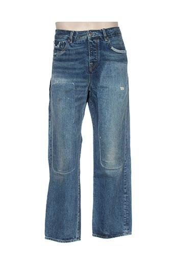 Jeans coupe large bleu SCOTCH & SODA pour homme