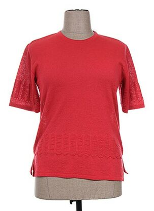 Pull col rond rouge ELEANE pour femme